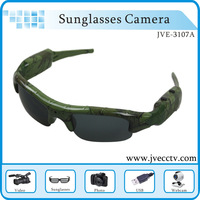 Hot fashion 1280*960 Sunglasses DVR Camcorder With Webcamera fucntion,Wireless Sunglasses DVR Recorder Gree Color In Stock