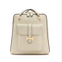 100% genuine leather bags zipper backpacks women leather backpacks designers famous brand school bag fashion vintage backpack.