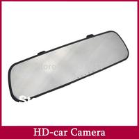 Car Dvrs Dvr Recorder Dash Cam Mini Hidden Car Camera DVRSMirror Rearview  with G-sensor Motion Detection 2.7'' Screen