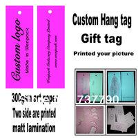 custom printed clothes price paper gift hang tag/logo swing hang tag/free fee design