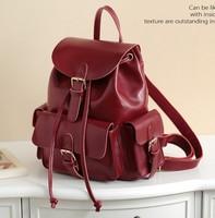 NEW 2014 girls school bags women backpack genuine leather bags leather backpacks women bag vintage bag fashion bolsas femininas