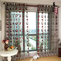 Free Shipping European Design Curtain Jacquard Window Screen Curtain Balcony sheer curtains curtains for living room