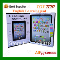 Hot New Retail Box English Ipad Toys Y pad ypad Children Early Learning Machine Tablet Computer For Kids (no light)