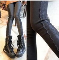 New Arrival Woman Leggins Trousers Cotton Legging Flowers Lace Leggins Slim Legging Stretchy Leggings Pant Leggings For Women