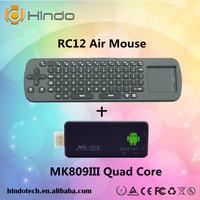 MK809 III Quad Core Android 4.4.2 Mini PC TV BOX Rockchip RK3188 MK809III QC802 TV Stick + Measy RC12 air mouse keyboard