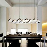 Free shiping New Arrival 110-240V G4 bulbs 8 lights Crystal cube lamp lustres e pendentes home lighting