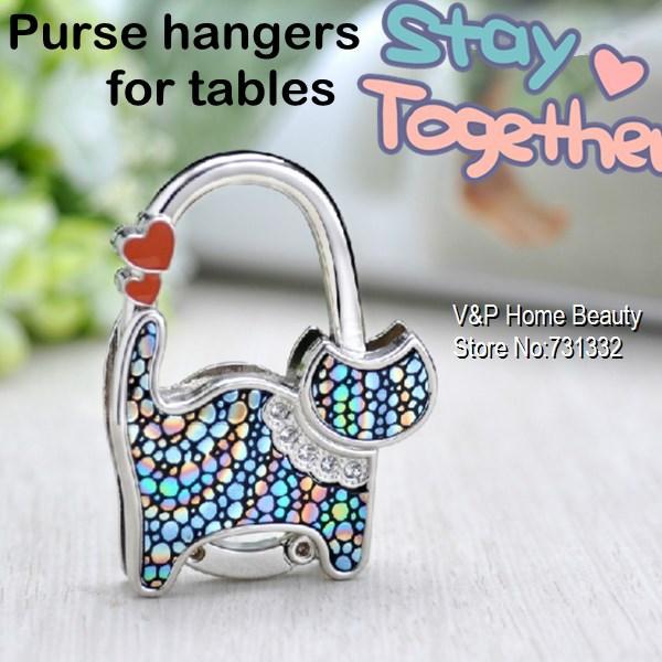 5 pcs/Lot Colored Cat Purse hanger for table Bag hook key finder Decorative bag accessories Novelty innovative zakka 8522(China (Mainland))