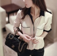 new 2013 autumn women's top chiffon shirt long-sleeve shirt blouses for women camisas top plus size S-XL