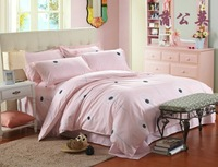 Free shipping,Textile piece set bed sheets duvet cover cotton full princess bedding 4 activated,King Queen Full Twin 4 size