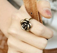 0772 Free shipping min. order $10 (mix order) vintage romantic rose korean style ring wedding band for women