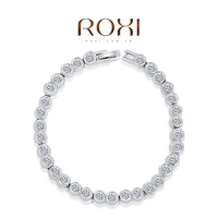 ROXI Christmas gift genuine Austrian crystals classic bead bracelet gold plated 3 color 100%hand made fashion jewelry 2060005830