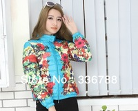2013 Winter New Arrival Trend Print Ultralight Short Down Jacket