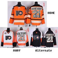 Customize ICE Hockey Philadelph Flyers Jerseys personalized Wholesale Cheap Customized Jersey Sewn On NO. & Name  YL-6XL