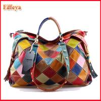 Alexander Style European And American Punk Rivet Pillow Bag Patchwork Female Shoulder Messenger Retro Tote Handbags