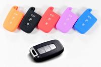 100% Silicone Key wallets Jacket Rubber Car bottom Remote Key Case KIA KEY CASE Bag SPECIAL for Kia folded K2, K5, Sportage