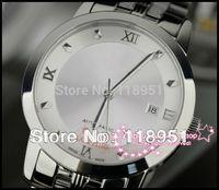 2014  Hot new luxury business scale automatic movement sapphire Roman calendar Swiss brand men's watch waterproof strip V50