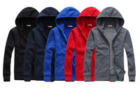 Free Shipping A couple of new fund of 2013 autumn winters is recreational the hooded fleece five colours size S M L XL XXL
