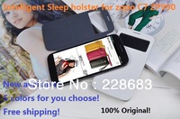 2 colors Free shipping original leather case  for ZOPO C7 ZP990 990 book flip High Quality Intelligent sleep wake up cover