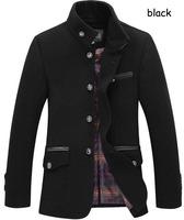 Elegant Mens slim fitting Blends Coats design brand winter thicken warm jacket and coat for men