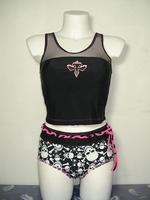 Cool skull women's split swimwear /Novelty /body shaping /sexy fashion adult swimwear/Olympic Games Tankinis Set