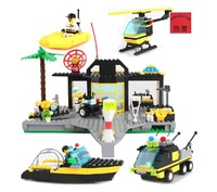 Enlighten Police Series Rescue Center Building Block Sets Educational DIY Construction Bricks Toys for Children 111,Compatible