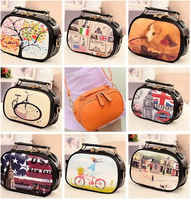 Winter New 2013 Small  Candy Color Leather bags Women Messenger Bag  Girls Handbag Shoulder Bag