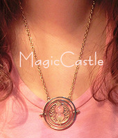 2014 New Arrival 24K Gold Plated Harry Potter Necklace Time Turner Necklace Hermione Granger~DY002