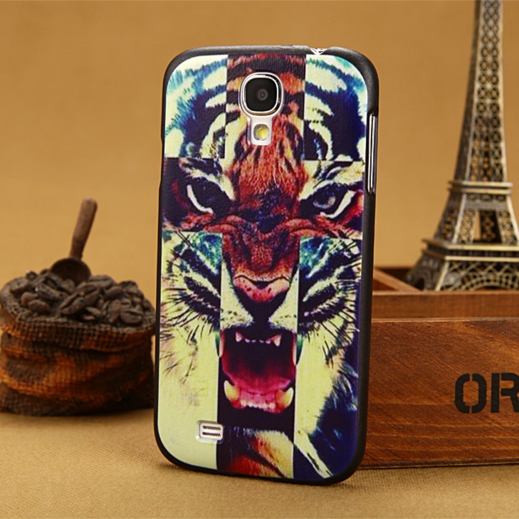 3D painting tiger Case For Samsung Galaxy S4 SIV & S3 SIII hard Cover i9300 i9500 back cases S 3 III 4 IV covers Free shipping(China (Mainland))