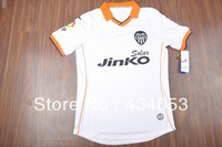 Free shipping13 14 season Thailand Quality shirts Valencia white home Soccer Jerseys football jersey  football kits