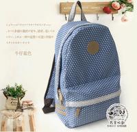 Brand women canvas dot lace printing backpack for girl children student schoolbag book travel bag Mochila Bolsas Bolsos