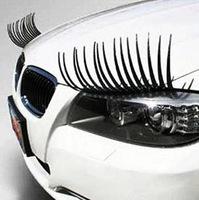 OPP Pack 3D Car  styling  Charming Black False Eyelashes Sticker,Car Headlight Eyelashes Decorations Accessories  Free Shipping