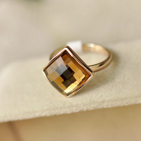 New  2 colors 18K Rose Gold Plated Austrian rhombus Crystal Wedding Fashion Ring Free Shipping