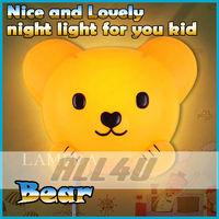 New arrive!!! Lovely Bear Face Wall Lamp Cartoon Atmosphere night Light Novelty Wallpaper Lamp  in stock