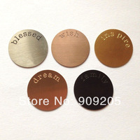 2014 New Arrival Assorted 316L Stainless Steel Plates for 30mm Floating Charm Locket  20 Pcs/Lot P001