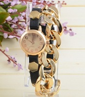 Hot Sale! New Arrival Fashion Strap chain Nut Women  Watches Global Free Shipping