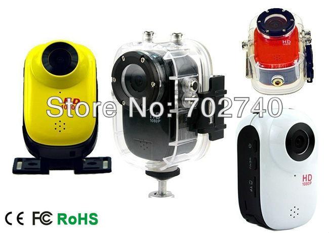 New Full HD 1920x1080P Waterproof helmet action Car and motorcycle bike Camera Free Shipping(China (Mainland))