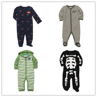 1pc Retail, 2014 New, Carters Romper, Carters Baby Boys Long Sleeve Jumpsuit, Freeshipping IN STOCK