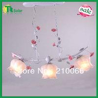 Rose Flower Chandelier Lighting 3pcs/lot  Freeshipping light source E27*3 Lighting Fashion Modern Bedroom living room