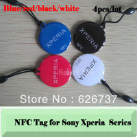 Free shipping Smart NFC tag for Sony L/P/Sola/SP/V/Z/ 4pcs/lot