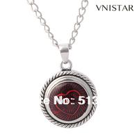 Best Sellers! Vnistar Button Pendant Necklace With Heart Snap Button Charm, 3pcs / lot, VSN076-1