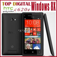 3pcs/lot Unlocked Original  HTC 8X C620e Windows Phone 8 Dual-core WIFI GPS 8MP camera 16G Internal Cell phone one year Warranty