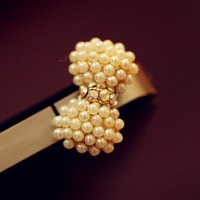 JD 7018 Free shipping min. order $10 (mix order) New arrival fashionable pearl bowknot earphone dust plug for iphone