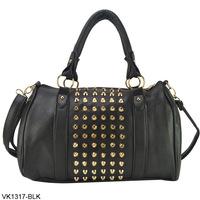 3 Color New Free Shipping 2013 Fashion PU Leather Ladies Handbags Stud Women's Handbag Rivet Shoulder Bags,women messenger bags