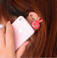 2085 Free shipping Fashionable cartoon character earphone dust plug for iphone Phone accessories