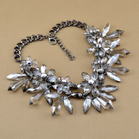 New High Quality Fashion Party Chunky Luxury Choker Luxury  Z Crystal Pendants Necklace Statement Jewelry Wholesale For Women