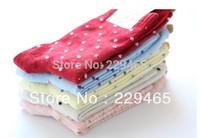 Adult women cotton socks Korea cute candy color dots Polka Dot socks warm socks wholesale 10pair/lot high quality free shipping