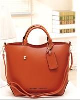 Korea 2014  Free/drop shipping JY171 women PU Leather  handbags   brand shoulder  bag  and women tote bags