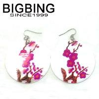 BigBing Fashion jewelry  fashion shell earrings flower popular earring free shipping G104