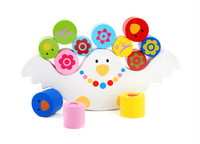 Free Shipping Bird Balance Wooden Toys Building Blocks Learning & Educational toy Parent-Child Game Baby gift