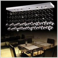 "L80cm / 31.5 ""high quality Rectangular crystal chandelier include LED Light Source"